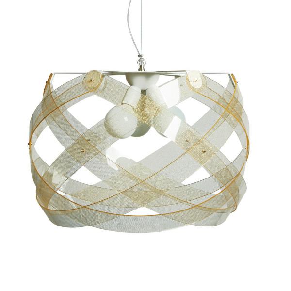 Κρεμαστό φωτιστικό Nuclea maxi Texture Gold Emporium Roberto Giacomucci