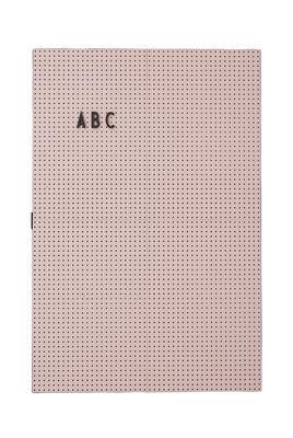 A3 Light Slate - L 30 x H 42 cm Letras de Design Rosa