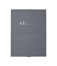 A4 Light Slate - L 21 x H 30 cm Dark Gray Design Letters