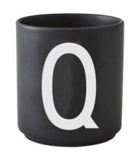 Mug Arne Jacobsen Letter Q Black Design Letters Arne Jacobsen
