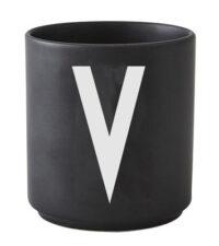 Mug Arne Jacobsen Letter V Black Design Letters Arne Jacobsen