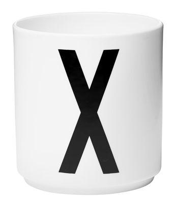 Mug Arne Jacobsen Letter X White Design Letters Arne Jacobsen
