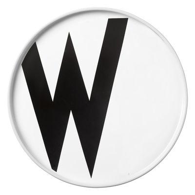 Arne Jacobsen plate Letter W - Ø 20 cm White Design Letters Arne Jacobsen