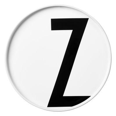 Plate Arne Jacobsen Letter Z - Ø 20 cm White Design Letters Arne Jacobsen