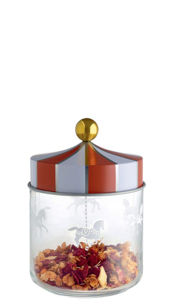 Zirkus hermetisches Glas - 75 cl Weiß   Rot   Gold   Transparent ALESSI Marcel Wanders 1