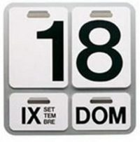 Formosa Aluminum Calendar | White | Nero Danese Milano Enzo Mari 1