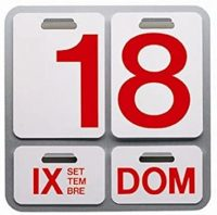 Formosa Aluminum Calendar | White | Rosso Danese Milano Enzo Mari 1