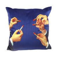 Toiletpaper cushion - Lipsticks - 50 x 50 cm Multicolor | Blue Seletti Maurizio Cattelan | Pierpaolo Ferrari