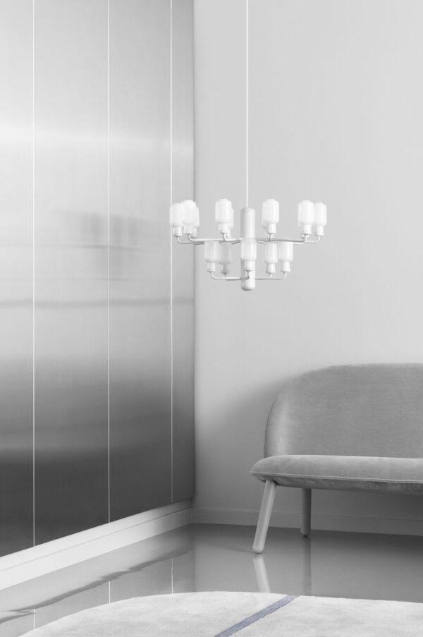 Amp Chandelier Small Suspension Lamp - Ø 62 cm Λευκό Normann Copenhagen Simon Legald