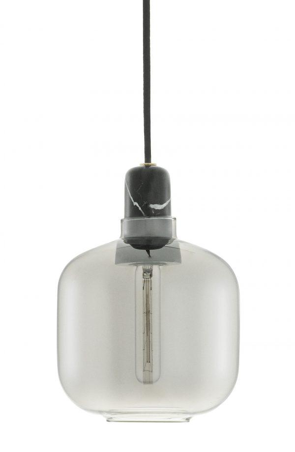 Amp Small - Lámpara de suspensión - Ø 14 x H 17 cm Negro | Fumè Normann Copenhagen Simon Legald