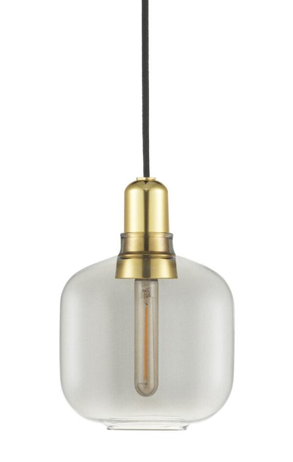 アンプスモールサスペンションランプ-Ø14 x H 17 cm真鍮|スモークグレーNormannコペンハーゲンSimon Legald