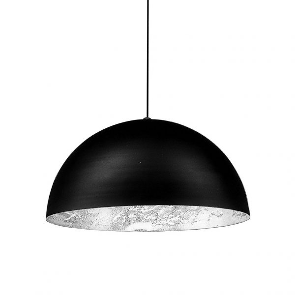 Lâmpada de suspensão Stchu-Moon 02 - / LED - Ø 60 cm Preto   Prata Catellani & Smith Enzo Catellani