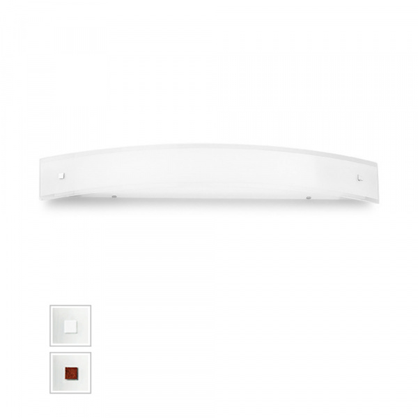 Mille LED Wall Lamp AP XL White   Nickel   Red Linea Light Group Centro Design LLG