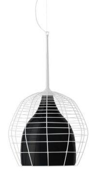 Suspension lumineuse Cage - Ø 34 Blanc | Diesel noir avec Foscarini Diesel Creative Team 1