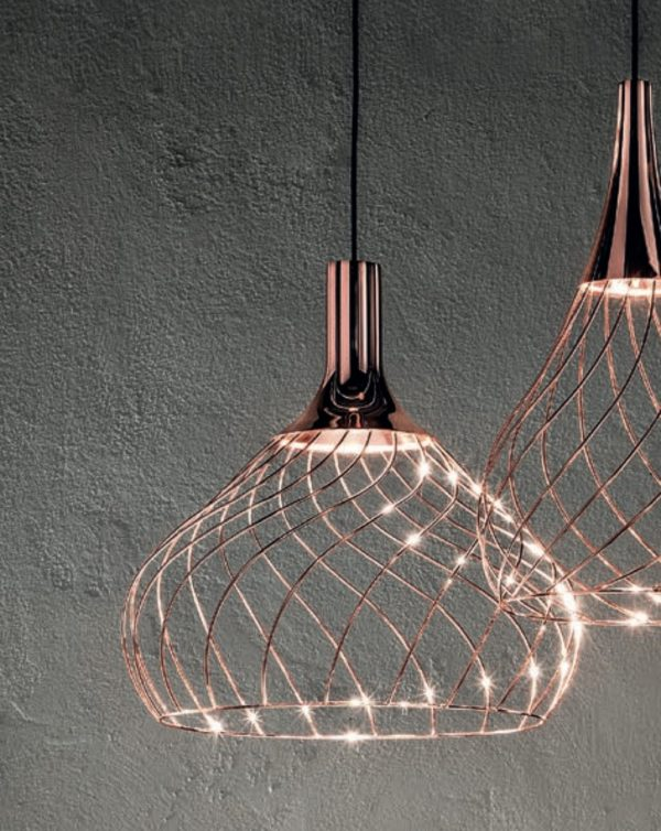 Κρεμαστό φωτιστικό από χαλκό Mongolfier_P2 Linea Light Ομάδα Design Center LLG