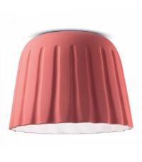Lampada da Soffitto Madame Gres C2573 Rosa Corallo Ferroluce  1