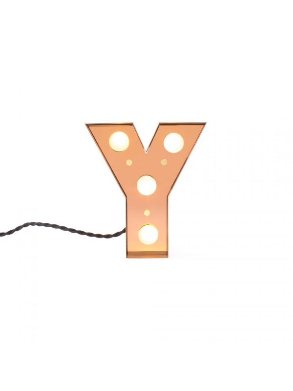 Table Lamp Caractère Aplik - Lèt Y Brilliant Gold Selibri | Studio Badini Kreye