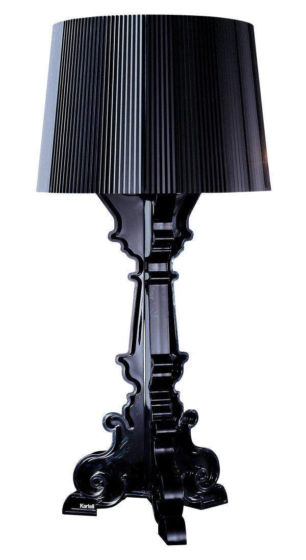Schwarz Kartell Bourgie Tischlampe Ferruccio Laviani 1