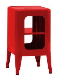 Κινητό χαμηλό σκαμνί H cm Κόκκινα Tolix Frédéric GAUNET 50 1