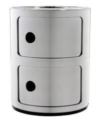 Mobile contenitore Componibili / 2 cassetti Cromato Kartell Anna Castelli Ferrieri 1