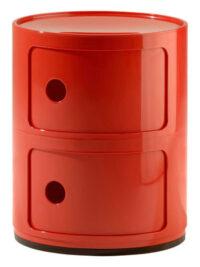 Mobile contenitore Componibili / 2 cassetti Rosso Kartell Anna Castelli Ferrieri 1