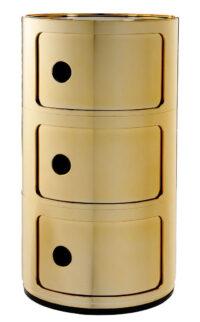 Mobile contenitore Componibili / 3 cassetti Oro Kartell Anna Castelli Ferrieri 1