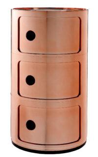 Mobile contenitore Componibili / 3 cassetti Rame Kartell Anna Castelli Ferrieri 1