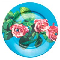 Assiette en papier hygiénique - Roses Seletti multicolores Maurizio Cattelan | Pierpaolo Ferrari