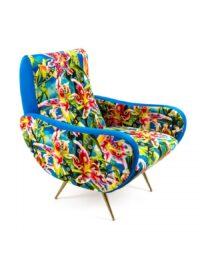 Καρέκλα για ταπετσαρίες - Λουλούδι με τρύπες Πολύχρωμο | Χρυσό | Seletti Τυρκουάζ Maurizio Cattelan | Pierpaolo Ferrari