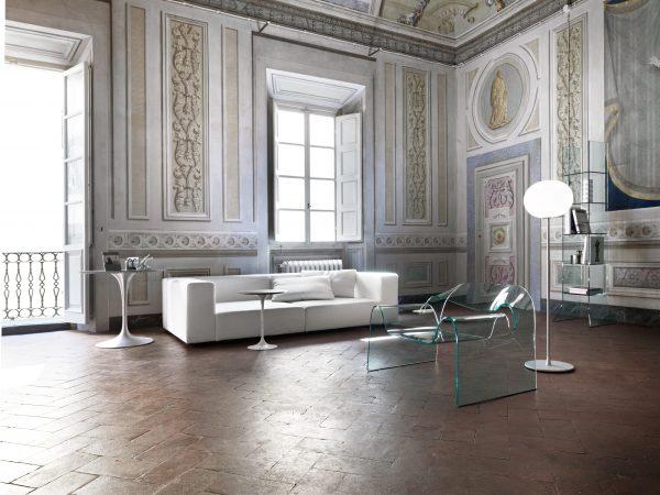 Χαμηλή διάφανη πολυθρόνα φαντασμάτων FIAM Cini Boeri