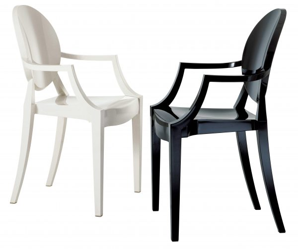 Fauteuil empilable Louis Ghost Blanc mat Kartell Philippe Starck 2