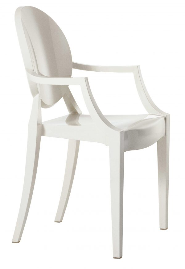 Fauteuil empilable Louis Ghost Blanc mat Kartell Philippe Starck 1