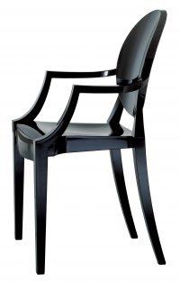 Louis GhostスタッカブルアームチェアマットブラックKartell Philippe Starck 1