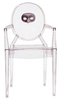 Louis Ghost積み重ね可能アームチェア-Kartell Philippe Starck 1透明マスク