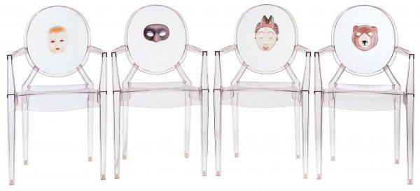 Πολυθρόνα Louis Ghost στοίβα - Διαφανής αρκούδα Kartell Philippe Starck 2