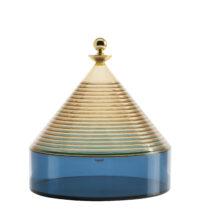 Trullo Box - Ø 25 x H 27 cm Μπλε | Κίτρινο | Χρυσό Kartell Fabio 1 Νοεμβρίου
