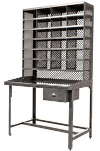 mesa móvel para triagem de aço da cor Tolix Xavier Pauchard 1
