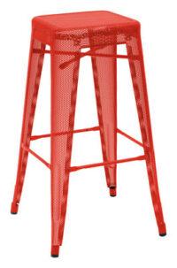 Taburete alto H - H cm Rojo Tolix Chantal Andriot 75 1