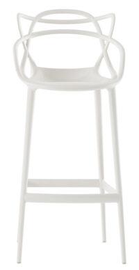 Sgabello alto Masters - H 75 cm Bianco Kartell Philippe Starck|Eugeni Quitllet 1
