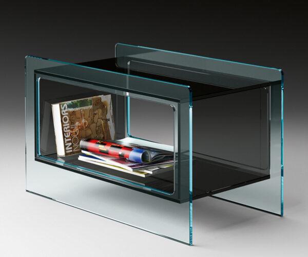 Table d'appoint Magique Gris Fumée | Studio FIAM Studio Klass Transparent