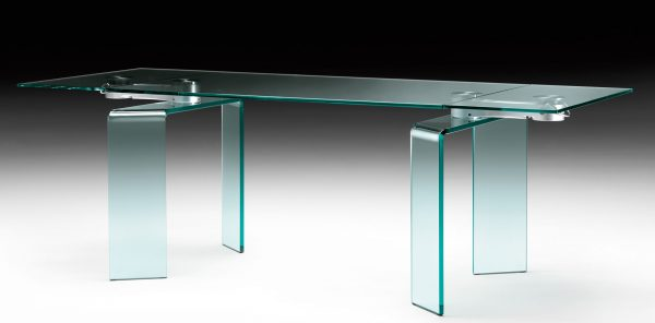 Mesa de Aço Ray Plus   Transparent FIAM Bartoli Design