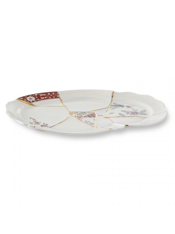 Kintsugi Tray White   Multicolored   Gold Seletti Marcantonio Raimondi Malerba
