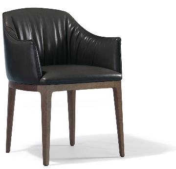 Blossom poltron black leather