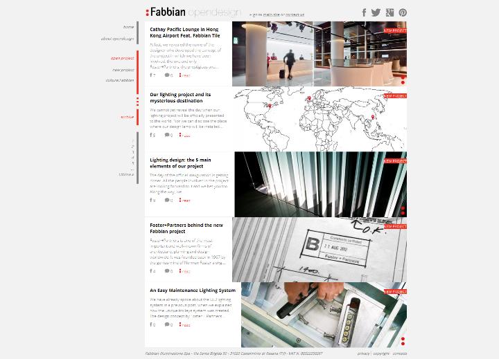Fabbianによって照明プロジェクトOpendesign