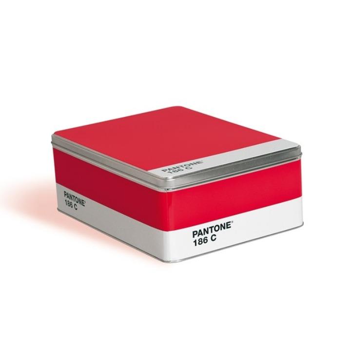 Boîte rouge Pantone