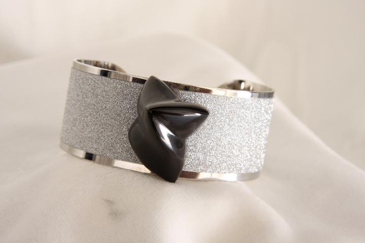 Bracciale n 5 a fascia e marmo  Bracelet band and marble design by Emanuele Rubini  8