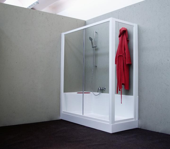 Docciafacile閉じ合計-交換-浴付きシャワー·バスルームの家具