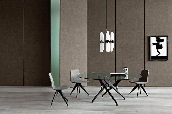 Potocco Torso table chairs social design magazine