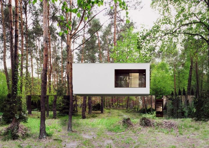 Reforma architekt Marcin Tomaszewski espejo refelctive casa Izabelin 2 01