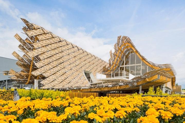 Κίνα expo περίπτερο milan 2015 Tsinghua Πανεπιστήμιο συνδέσεις μελέτη τόξο X1 818x545